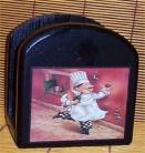 Fat Chef Solid Wood  Napkin Holder Bistro Home decor New #1/brick