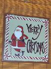 Tin Sign Santa Claus Christmas Merry Xmas Holiday Decor